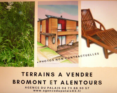 Vente Terrain 1 600m² Bromont-Lamothe (63230) - photo