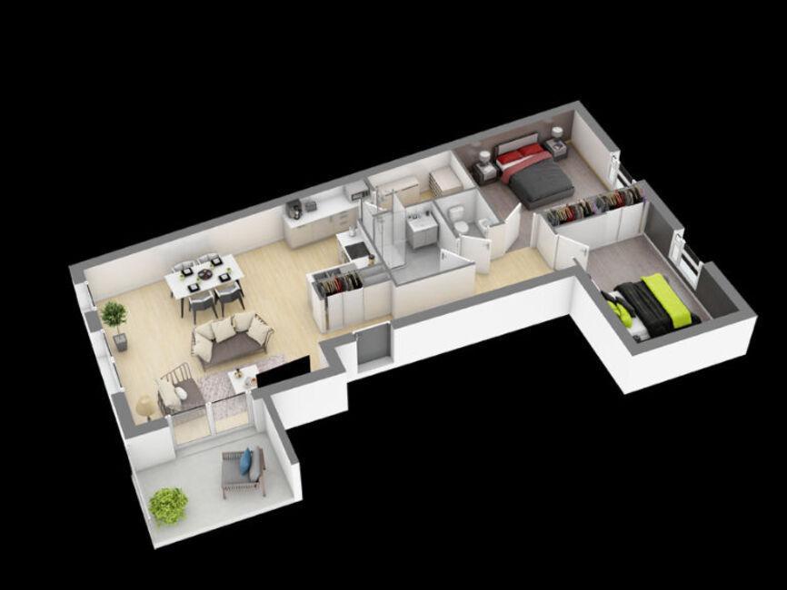 vente appartement 3 pi ces angers 159858. Black Bedroom Furniture Sets. Home Design Ideas