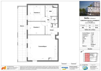 Vente Appartement 3 pièces 68m² STRASBOURG - photo