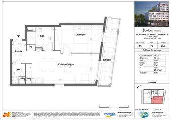 Vente Appartement 2 pièces 48m² STRASBOURG - photo