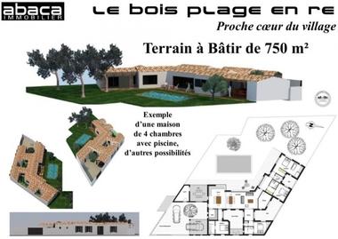 Vente Terrain 750m² Le Bois-Plage-en-Ré (17580) - photo