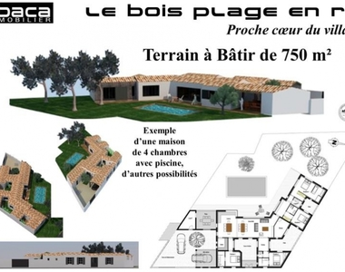 Vente Terrain 750m² Le bois plage en re - photo