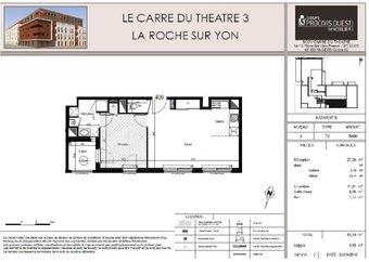 Location Appartement 2 pièces 45m² La Roche-sur-Yon (85000) - Photo 1