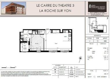 Location Appartement 2 pièces 45m² La Roche-sur-Yon (85000) - photo