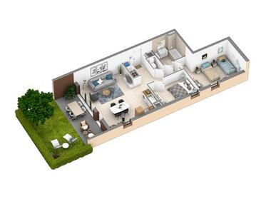 Vente Appartement 3 pièces 66m² SIX FOURS LES PLAGES - photo