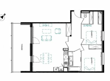 Vente Appartement 3 pièces 70m² Cornebarrieu (31700) - photo