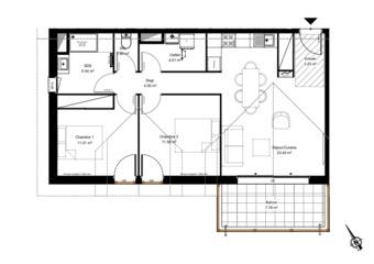 Vente Appartement 3 pièces 65m² urrugne - Photo 1
