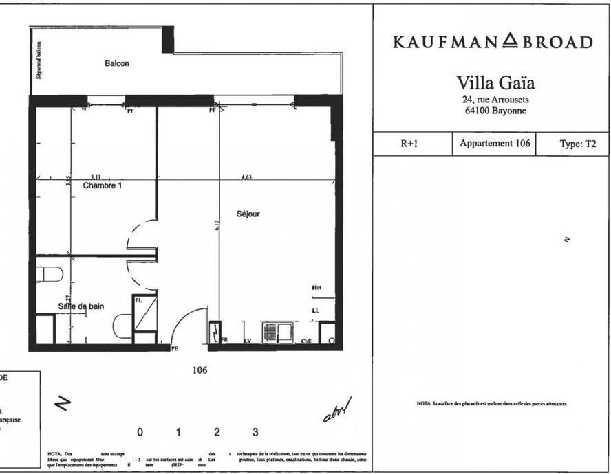 Location Appartement 2 pièces 46m² Bayonne (64100) - photo