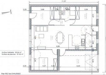 Vente Maison 4 pièces 86m² st paul trois chateaux