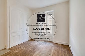 Vente Appartement 2 pièces 52m² Villeurbanne (69100) - photo