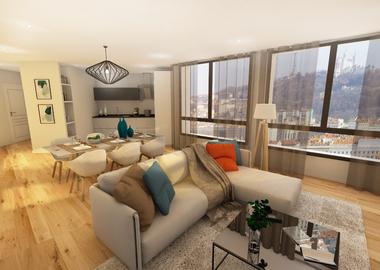 Vente Appartement 2 pièces 62m² Lyon 08 (69008) - photo
