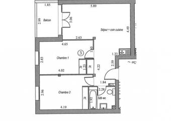 Vente Appartement 3 pièces 58m² Villebon sur yvette - Photo 1