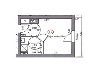 Vente Appartement 1 pièce 25m² Villebon sur yvette - photo