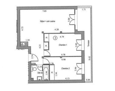 Vente Appartement 3 pièces 62m² Villebon sur yvette - photo