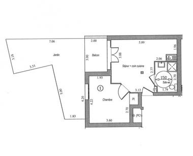 Vente Appartement 2 pièces 41m² Villebon sur yvette - photo