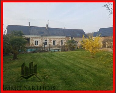 Vente Maison 7 pièces 228m² Nogent-sur-Loir (72500) - photo