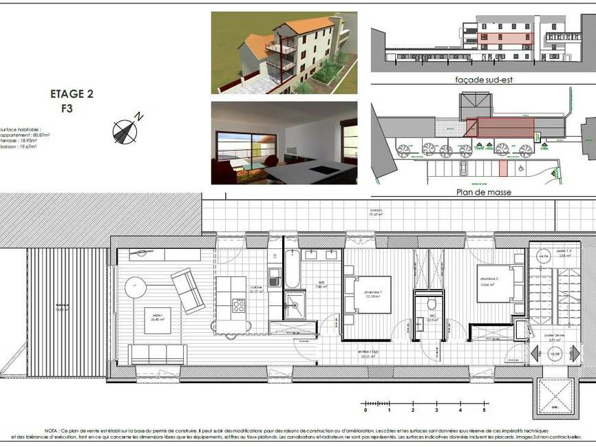 vente appartement 3 pi ces le puy en velay 43000 245200. Black Bedroom Furniture Sets. Home Design Ideas