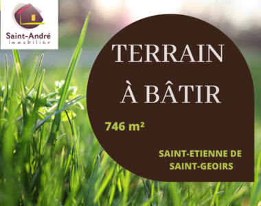 Vente Terrain 746m² Saint-Étienne-de-Saint-Geoirs (38590) - photo