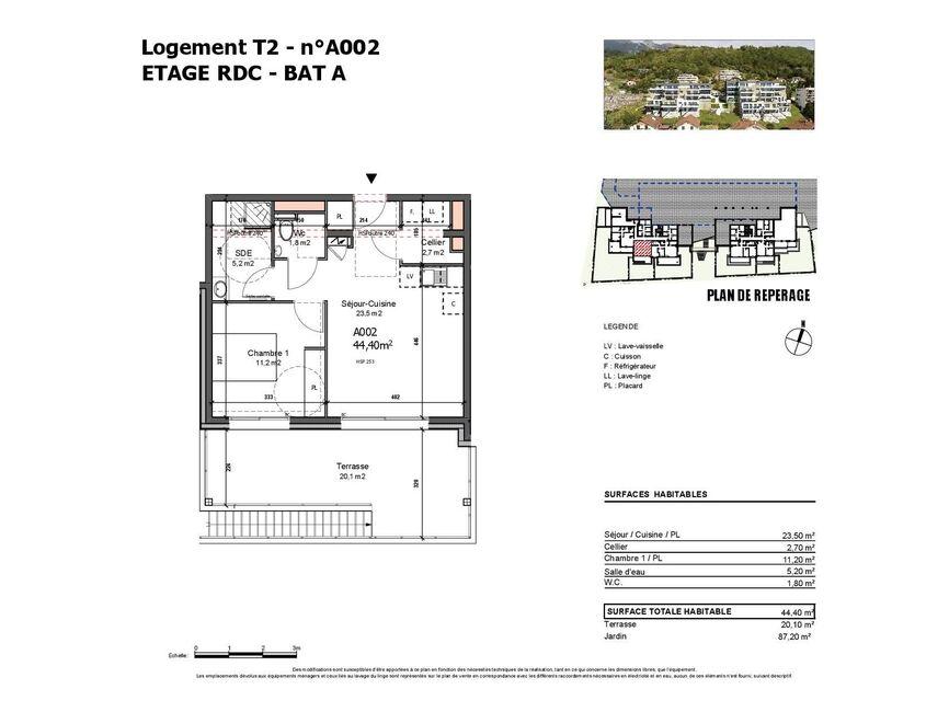 Vente Appartement 2 pièces 44m² Albertville (73200) - photo