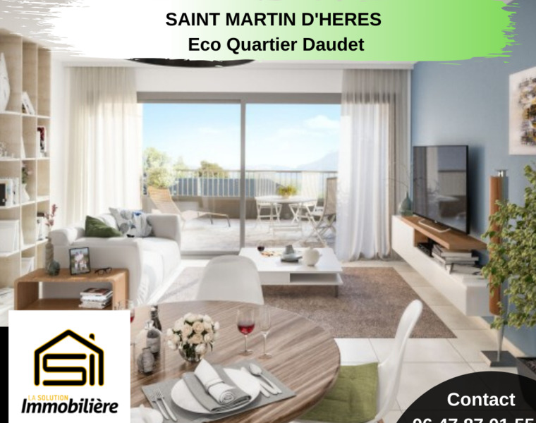 Sale Apartment 4 rooms 77m² Saint-Martin-d'Hères (38400) - photo