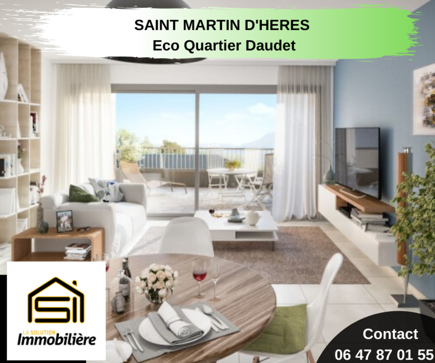 Sale Apartment 3 rooms 60m² Saint-Martin-d'Hères (38400) - photo