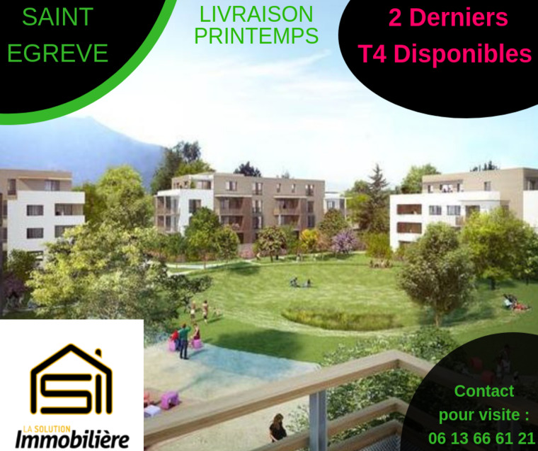Vente Appartement 4 pièces 82m² Saint-Égrève (38120) - photo