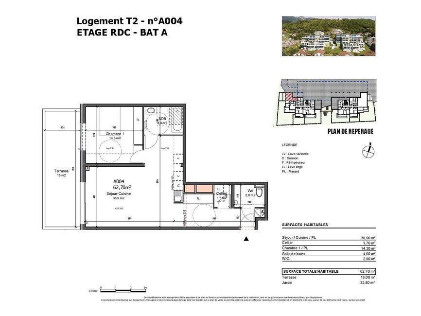 Vente Appartement 2 pièces 63m² Albertville (73200) - photo
