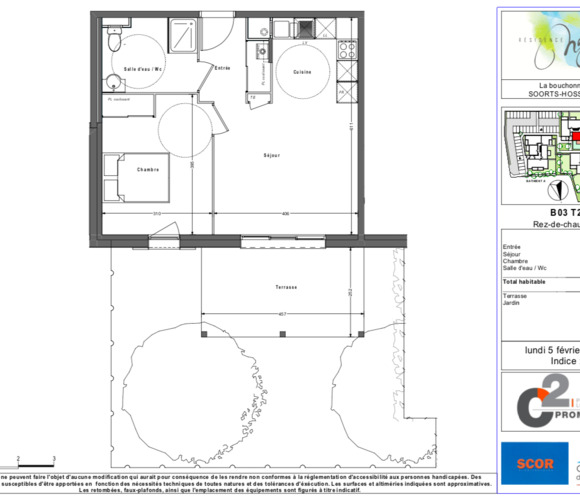 Renting Apartment 2 rooms 42m² Hossegor (40150) - photo