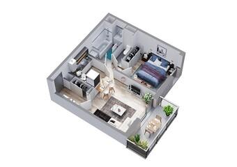 Vente Appartement 2 pièces 44m² Houplines (59116) - photo