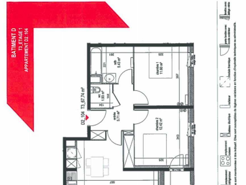 Location Appartement 3 pièces 68m² Bordeaux (33000) - photo