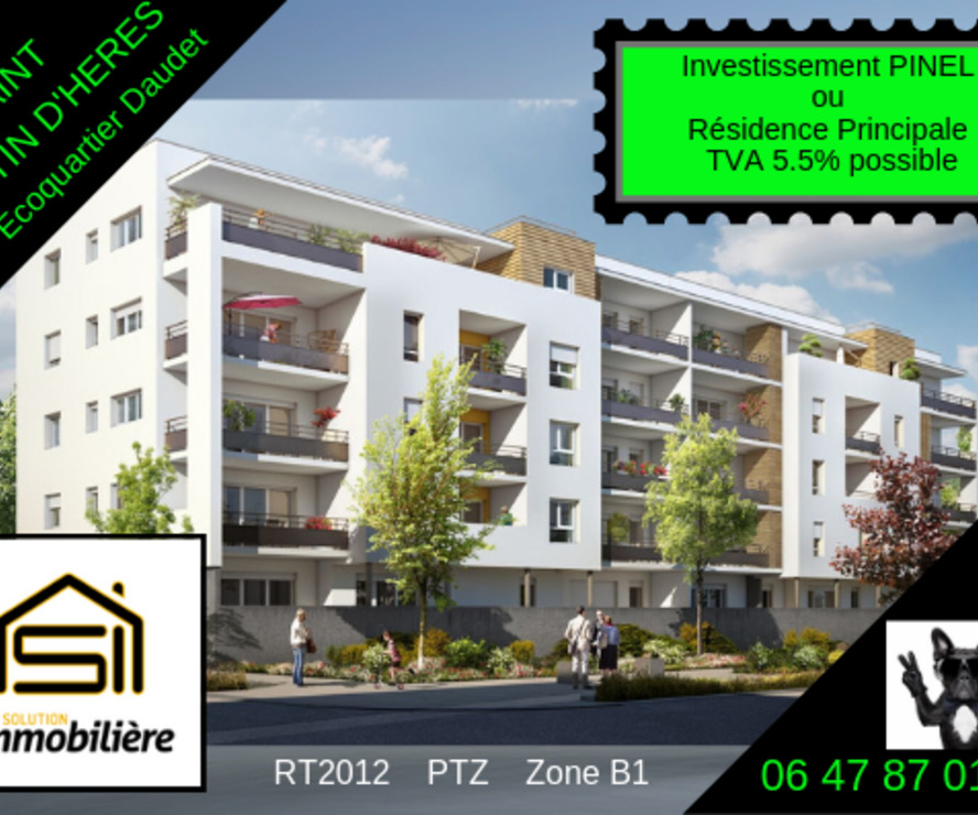 Vente Appartement 2 pièces 40m² Saint-Martin-d'Hères (38400) - photo