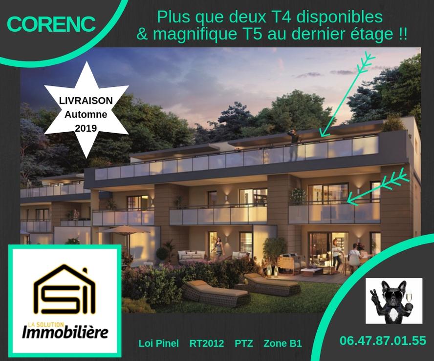 Vente Appartement 4 pièces 85m² Corenc (38700) - photo