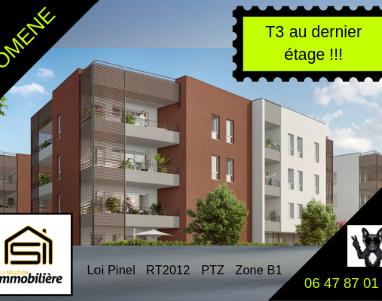 Sale Apartment 3 rooms 63m² Domène (38420) - photo