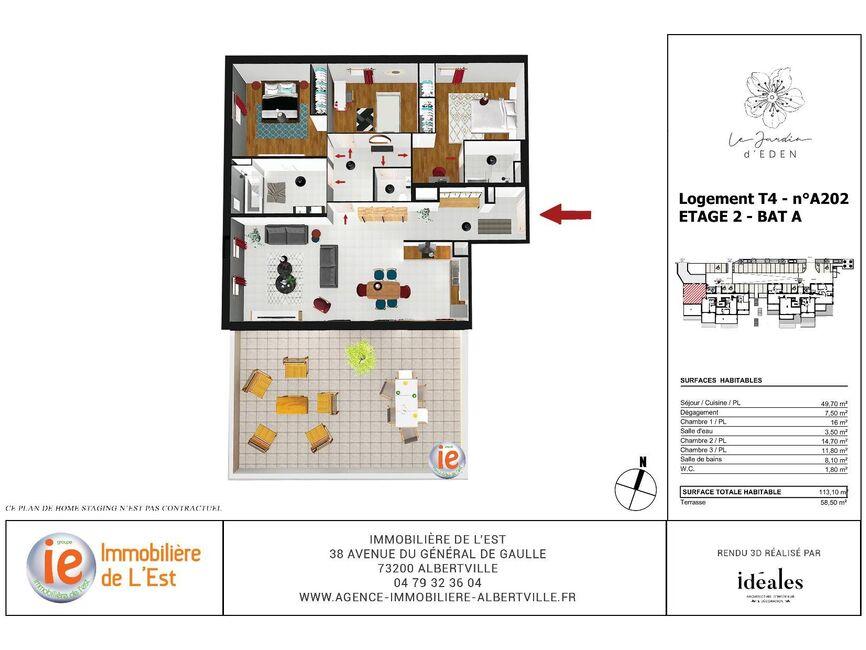 Vente Appartement 4 pièces 113m² Albertville (73200) - photo