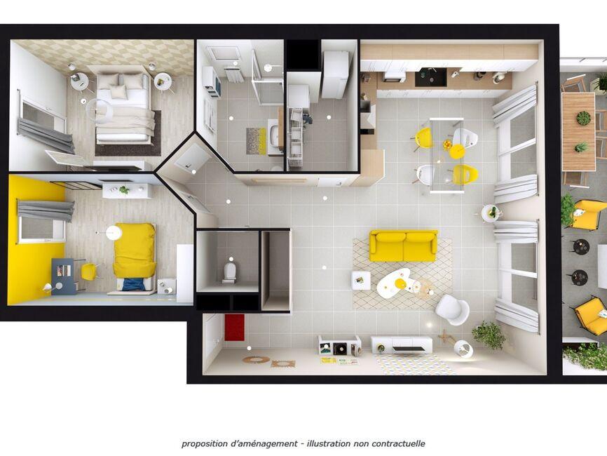 Vente Appartement 3 pièces 81m² Grésy-sur-Isère (73460) - photo