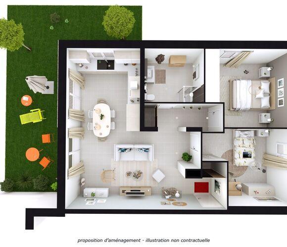 Vente Appartement 3 pièces 59m² Grésy-sur-Isère (73460) - photo
