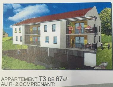 Vente Appartement 3 pièces 67m² proche zone commerciale - photo