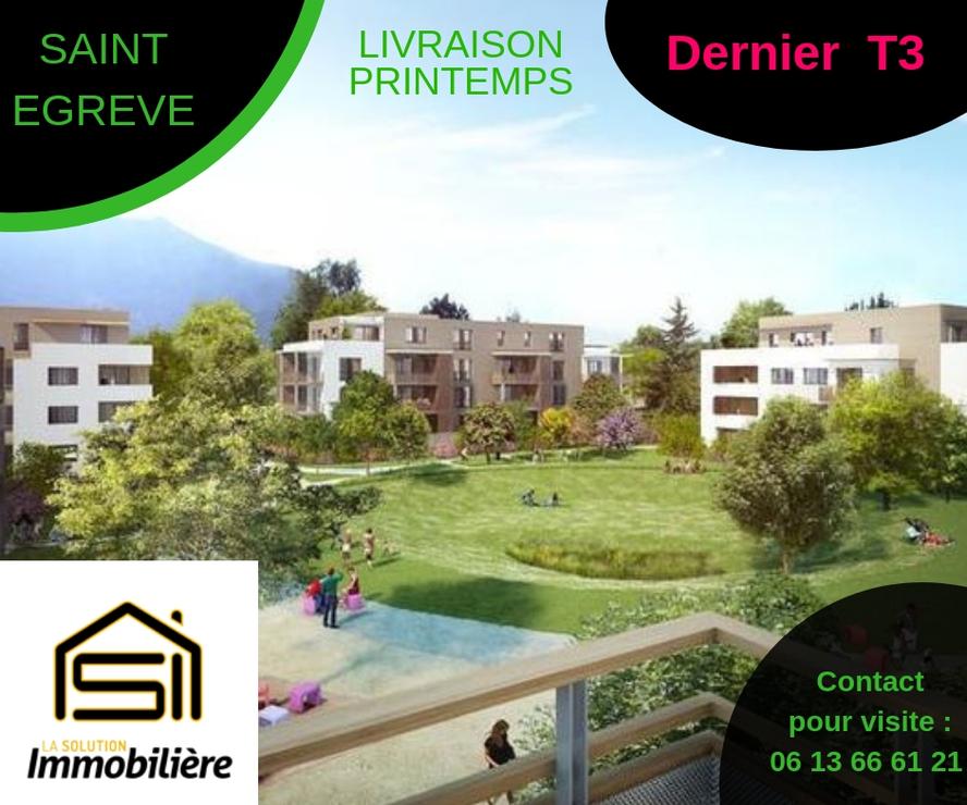 Vente Appartement 3 pièces 63m² Saint-Égrève (38120) - photo
