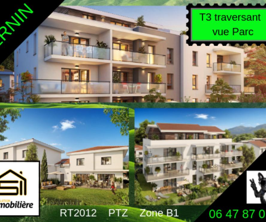 Vente Appartement 3 pièces 61m² Bernin (38190) - photo