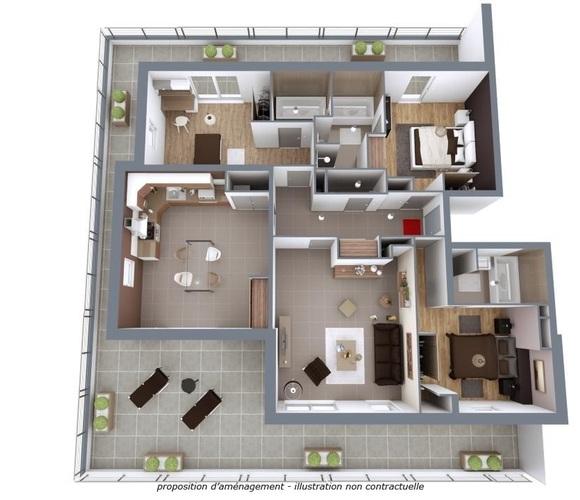 Vente Appartement 4 pièces 119m² Albertville (73200) - photo