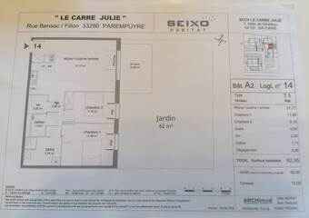 Location Appartement 3 pièces 62m² Parempuyre (33290) - Photo 1