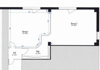 Vente Bureaux 2 pièces 94m² Moirans (38430)