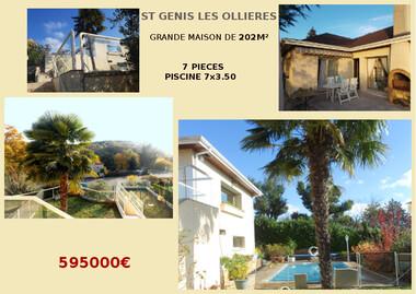 Vente Maison 7 pièces 202m² Saint-Genis-les-Ollières (69290) - photo