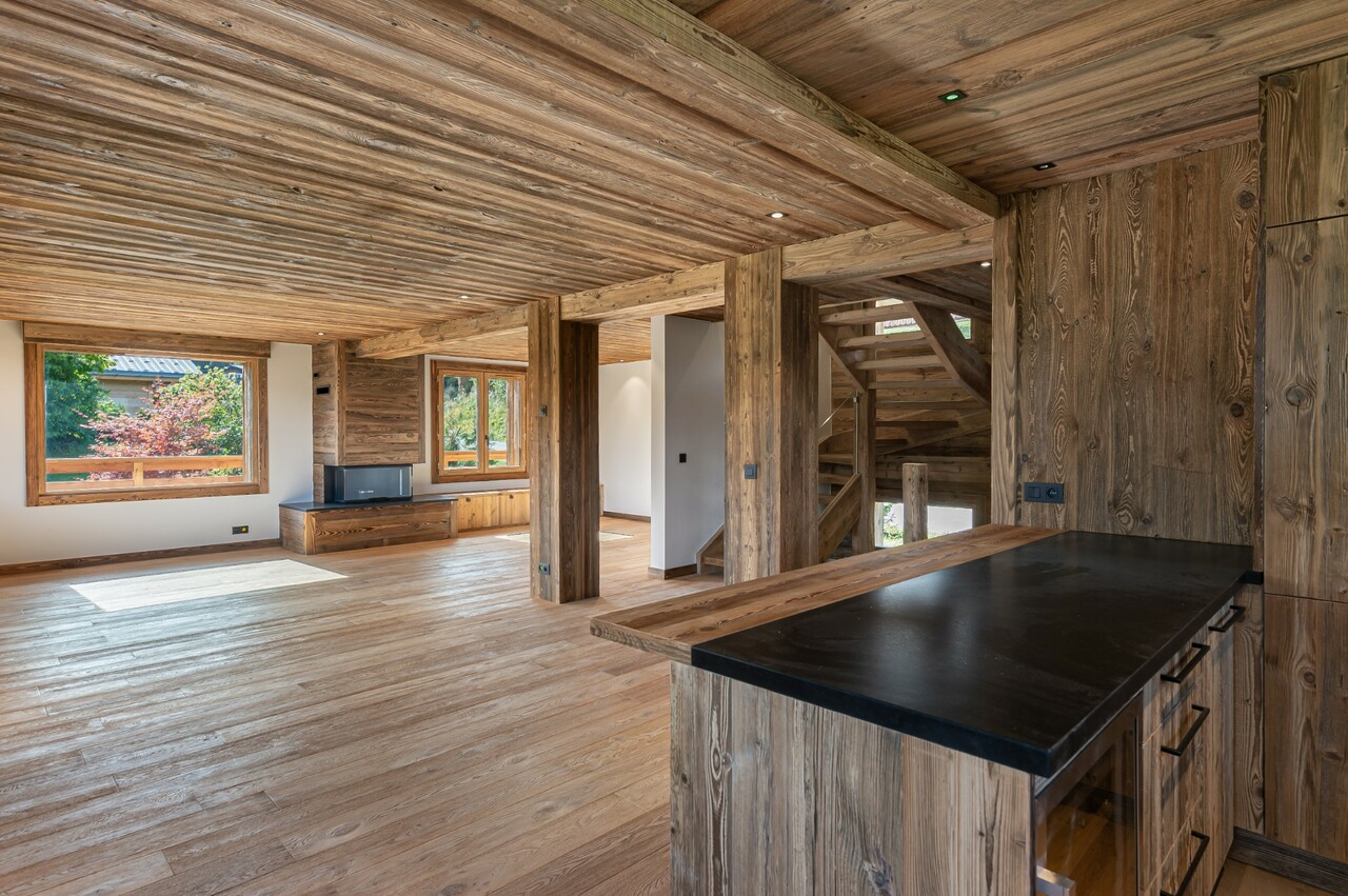 FULLY RENOVATED CHALET WITH MONT BLANC VIEW Accommodation in Megeve