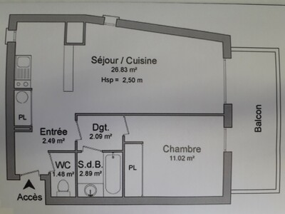 Vente Appartement 2 pièces 46m² Pau (64000) - Photo 2