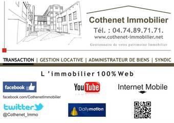 Location Appartement 1 pièce 43m² Cours-la-Ville (69470) - photo