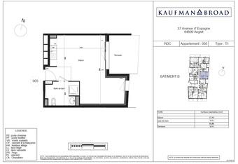 Vente Appartement 1 pièce 33m² Anglet (64600)