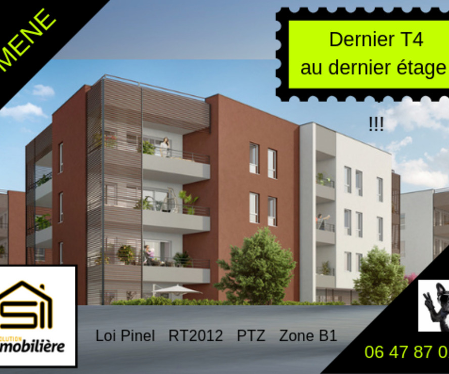 Sale Apartment 4 rooms 78m² Domène (38420) - photo