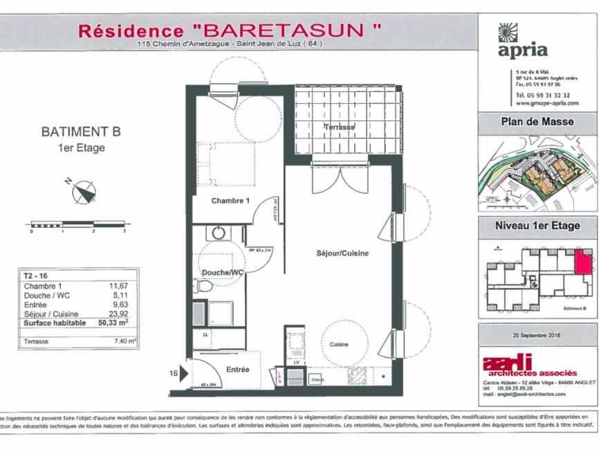 Renting Apartment 2 rooms 50m² Saint-Jean-de-Luz (64500) - photo