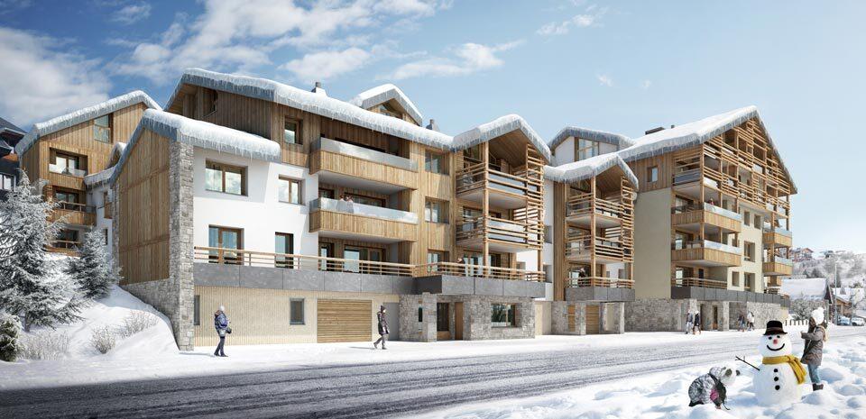 4 BEDROOMS IN NEW PROGRAMME NEUF LES FERMES DE L'ALPE Accommodation in Alpe d'Huez